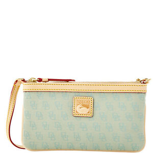 Dooney & Bourke Mini Signature Large Slim Wristlet, Mint