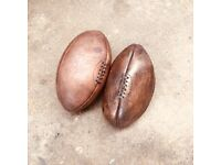 Vintage style rugby balls