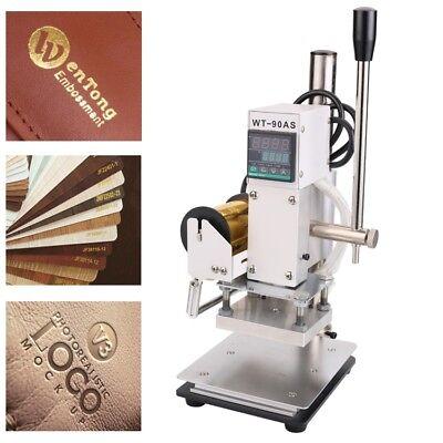 110v Hot Foil Stamping Machine Digital Embossing Pvc Leather Bronzing Printing