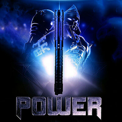 Powerful THOR H2 450nm Blue Laser Pointer Pen Blasting Torch Focus Burning Paper
