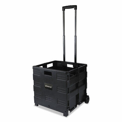 Universal Collapsible Mobile Storage Crate 18 14 X 15 X 18 14 To 39 38 Black