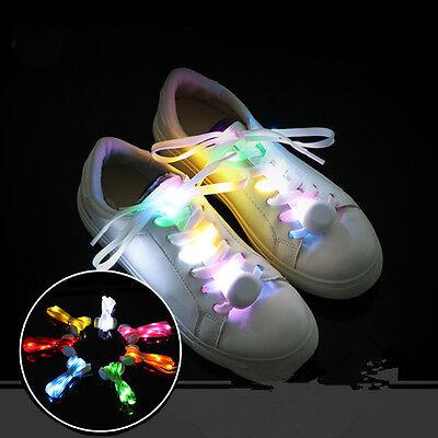 LED Shoelace Flash Luminous Light Up Glow Nylon Strap Shoe Laces Party Disco](Light Up Shoelace)