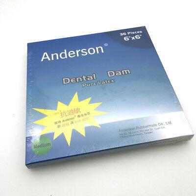 1pack Dental Endodontic Rubber Dam Sheet Natural Latex 55-52pcs 66-36pcs