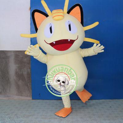 2019  Meowth Mascots Costume Cartoon Clothing Halloween Fancy Dress Gfit