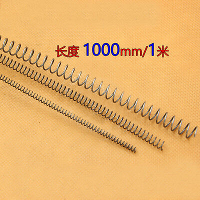 1000mm Long 1.5mm Wire Diameter 8-20mm OD Pressure Compression Spring Steel 1M