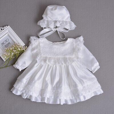 Taufe Motorhaube (Vintage Tutu Baby Spitze Taufe Kleid Kleinkind Stickerei Taufe Kleid Motorhaube)