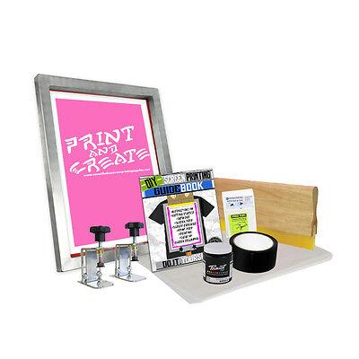 "DIY Screen Clamp Kit with ""Print N' Create Screen Printing Starter Beginner 00-4](Screen Print Kit)"
