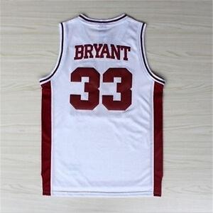 Kobe Bryant Lower Merion High School Basketball #33 Jerse wine White SMLXLXXL