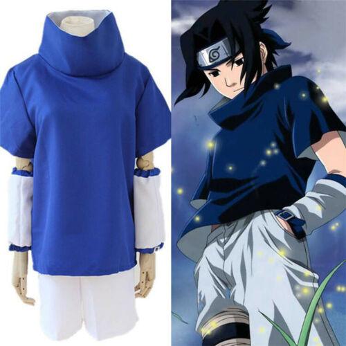 Naruto Uchiha Sasuke Complete Costume Set w/Headband for Halloween Cosplay XL