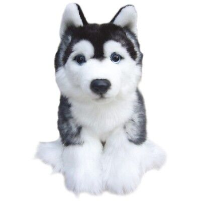 Toy Siberian Husky, gift wrapped, not gift wrapped with or without engraved tag