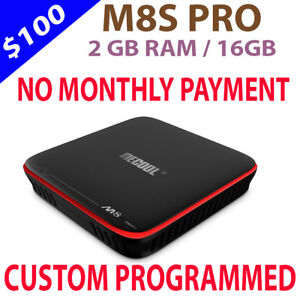 M8S PRO ANDROID TV BOX IPTV FOR SALE NO MONTHLY