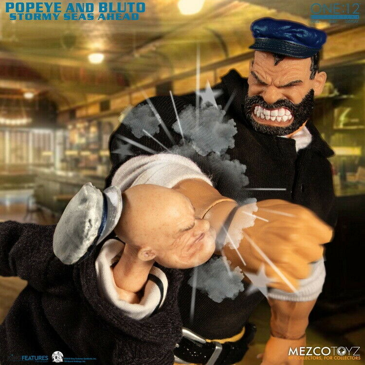 Mezco Toyz Ant 1:12 Popeye The Sailor Pluto Double Set 6inch Movable Figure