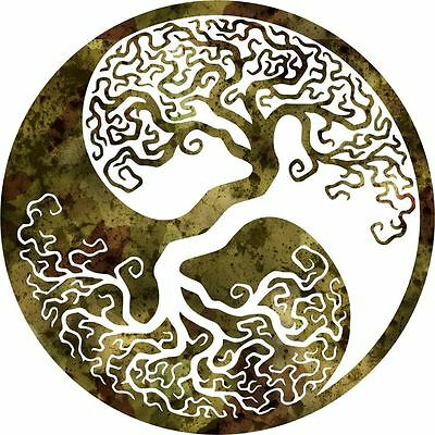 Dxf Cnc Dxf For Plasma Router Clip Art Vector Tree Of Lifeyin Yang Wall Art