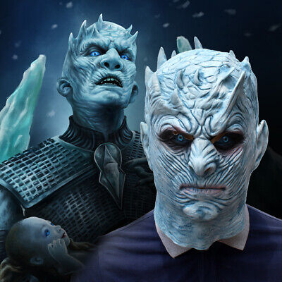 Game of Thrones Halloween White Walker Zombie Mask NIGHT'S KING Cosplay Costume (Zombies Costumes Halloween)