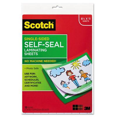 Scotch Self Sealing Laminating Sheets 6 0 Mil 8 1 2 X 11 10 Pack Ls854ss10