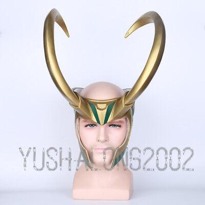 Thor 3 Ragnarök Loki Mask Cosplay costume Maske Helmet Helm Kostüm PVC