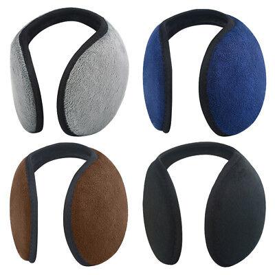 Unisex Women Men Ear Muffs Winter Ear Warmers Fleece Earwarmer Behind Head Band - Fleece Headbands