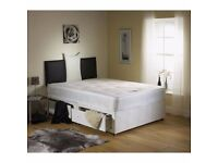 """►AMAZING OFFER► New 4FT6 Double or 4FT Small Double Divan Bed w 10"""" Ambassador Orthopaedic Mattress"""