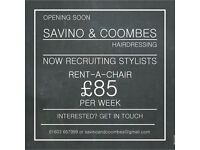 CITY CENTRE SALON CHAIR TO RENT - £85/WEEK