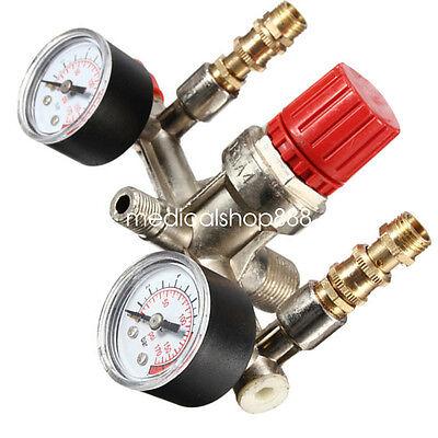 Air Compressor Pressure Switch Control Valve Manifold Regulator Gauges Us Stock