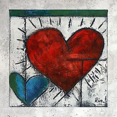 Ria Heart II Poster Kunstdruck Bild 60x60cm