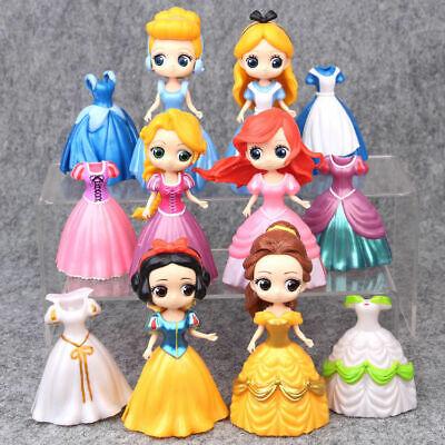 6 Disney Princess w/ 12x Magiclip DIY Changed Dress Figures Toy Gift Snow - Teletubbies Dress