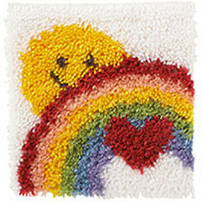 Sunshine Rainbow Latch Hook Kit Caron 12x12