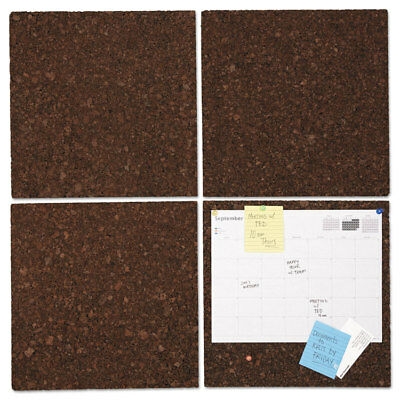 - UNIVERSAL Cork Tile Panels Dark Brown 12 x 12 4/Pack 43403