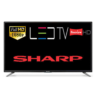 "Sharp LC-50CFE5101K 50"" Slim LED TV Full HD 1080p With Freeview HD 3 HDMI 2 USB"