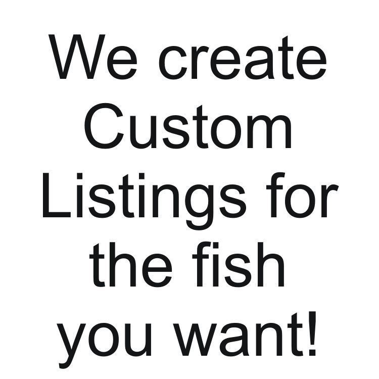 A special listing for another fish lover, sonylakers