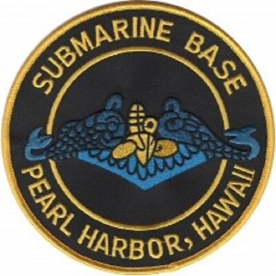 United States Naval Submarine Base Pearl Harbor Military Patch