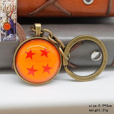 Dragon Ball  yellow metal pendant key chain key ring cartoon new