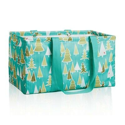 Thirty One LARGE UTILITY tote picnic laundry basket Bag 31 gift Whimsical Trees - Whimsical Trees