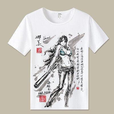 Cosplay One Piece Nami Anime Manga T-Shirt Kostüme Polyester - Nami One Piece Kostüm
