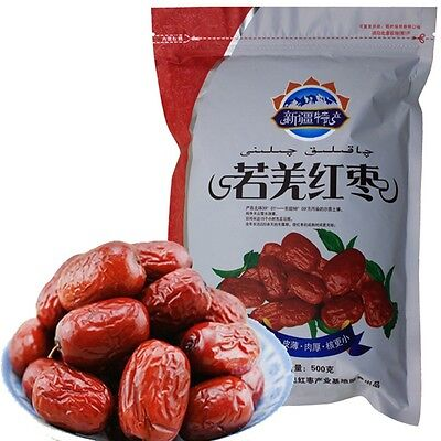 500g Dried JUJUBE Chinese red dates 100% Organic healthy food snack