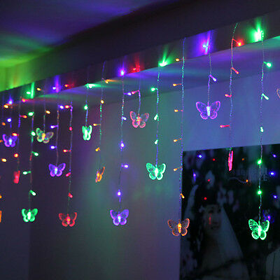 95 Butterfly LED String Curtain Lights Colorful Wedding Children Room Decor Lamp](Wedding Room Decorations)