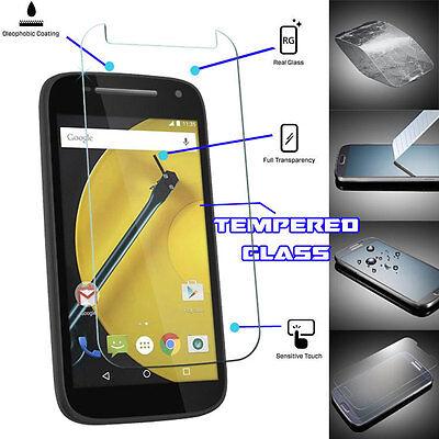 Genuine TEMPERED GLASS Invisible Screen Protector Motorola Moto E 2015 (2nd Gen)
