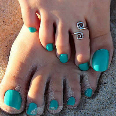Gift Women Lady Unique Retro Silver Plated Nice Toe Ring Foot Beach Jewelry