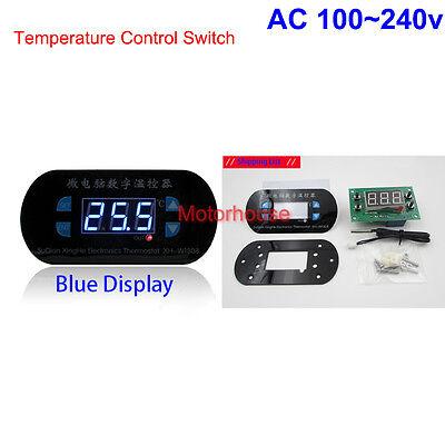 Ac 110v 220v Blue Led Digital Temperature Meter Controller Thermostat Aquarium