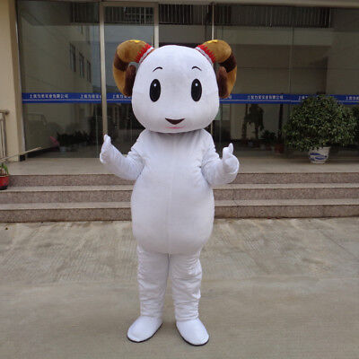Halloween Sheep Mascot Costume Suits Cosplay Party Game Outfits Adults Size](Sheep Costume Halloween)
