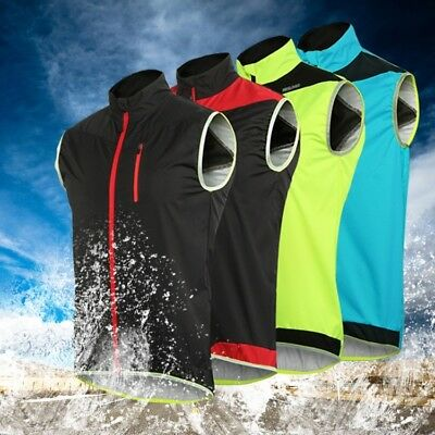 - Windproof Waterproof MTB Cycling Vest  Bike Bicycle Breathable Reflective Vest