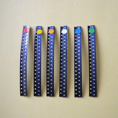 Smd Led Diode Kit 6color X 50pcs300pcs 0603 Redgreenbluewhiteyelloworange