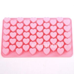 55 Mini Heart Silicone Soap Chocolate Cake Cake Sugercraft  Mold Ice Cube Tray