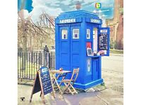 Police Box Cafe, Coffee & Sandwich Bar. TARDIS DR Who