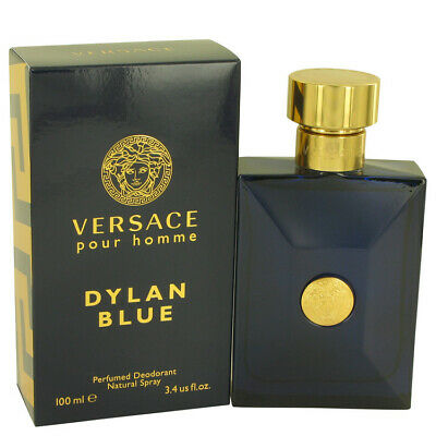 Versace Pour Homme Dylan Blue by Versace 3.4 oz Deodorant Spray for Men