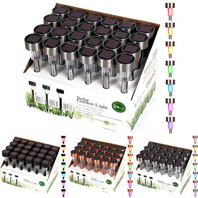 24 pack outdoor solar powered color changing