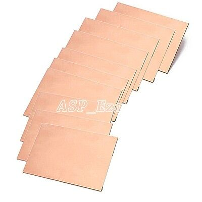 10pcs One-side Copper Clad 50x70x1.5mm Single Pcb Board Glass Fiber