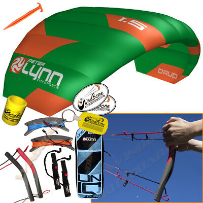 Peter Lynn UNIQ Quad 1.5M 1.5 Meter Single Skin Power Foil Kite 4-Line Handles, used for sale  Dunellen