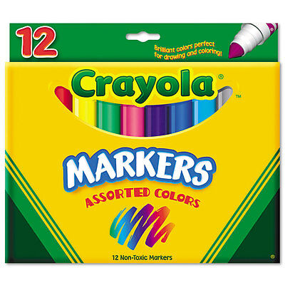 Crayola Conical Tip Classic Markers Broad Marker Point Type 12/Set Crayola Conical Tip Markers