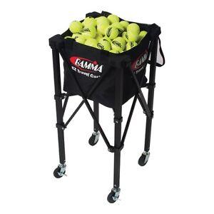 Brand New Tennis Aid Gamma E-Z Travel Cart Basket 150 balls